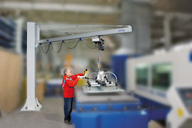 Schmalz Vacuum Lifts Column Slewing Cranes Photo